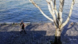 Walking Along the Paris Seine River 1200